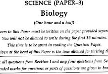 Biology Question Paper For Class 10
