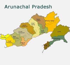 arunachal pradesh map