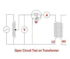 Oc sc test on single phase transformer
