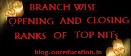 Listed Branch Wise Opening and Closing Ranks of Top NITs
