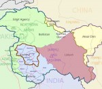 Map of Jammu kashmir for Article 370