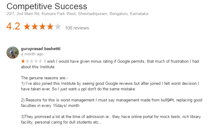 Competitive Success Coaching For Banking In Bangalore