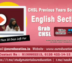 How to prepare English for SSC CHSL
