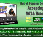 List of Popular Colleges Accepting NATA Scores