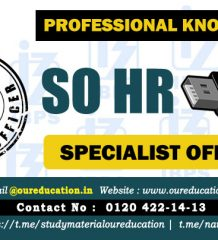 SPECIALIST HR OFFICER SYLLABUS FOR PROFESSIONAL KNOWLEDGE