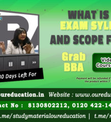 bba syllabus and scope