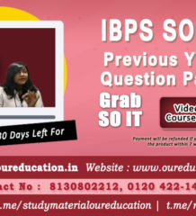 COACHING STUDY MATERIAL FOR IBPS SO EXAMINATION