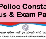 UP Police Constable 2018 Written Exam Syllabus
