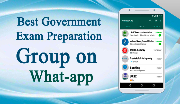 Best Government Exam Preparation Group on What-app