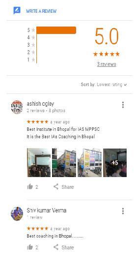 Ogley o UPSC Coaching Bhopal Reviews