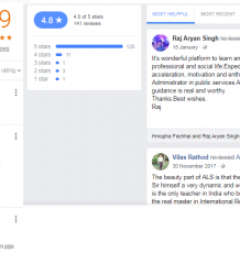 ALS IAS Coaching Bangalore Google, Facebook Reviews