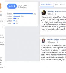 Rau's IAS Coaching Centre Bangalore Google & facebook Reviews