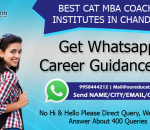 BEST CAT MBA COACHING INSTITUTES IN CHANDIGARH