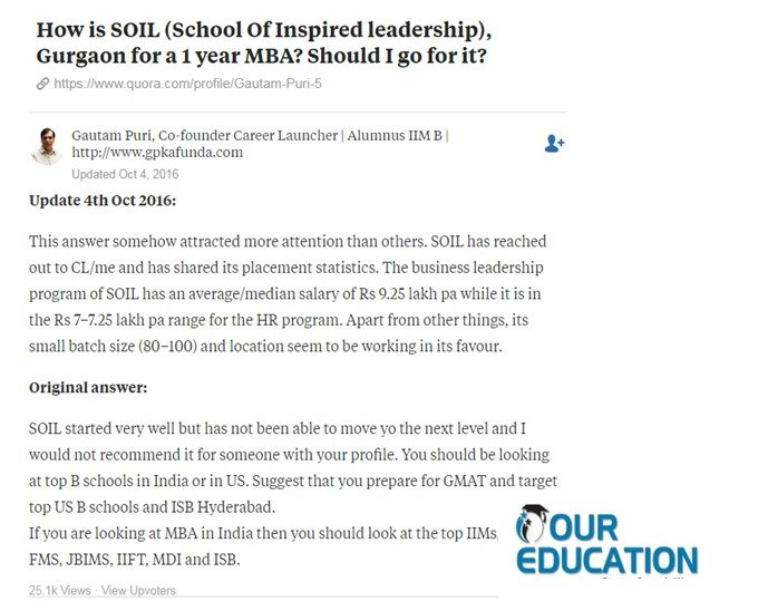 Reviews of school of inspired leadership soil gurgaon for Soil gurgaon