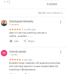 IAS World Upsc Coaching Bhubaneswar Reviews
