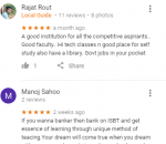 Indian School Of Banking & Technology Coaching Bhubaneswar Reviews