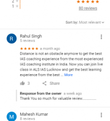ALS IAS Lucknow Coaching Reviews