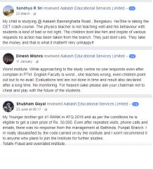 Aakash Institute IIT JEE Coaching Delhi Reviews
