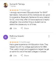 Education Aisle GMAT Bangalore Reviews