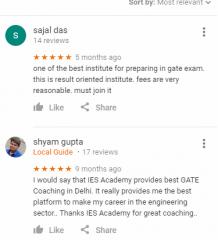 IES GATE Coaching Delhi Reviews