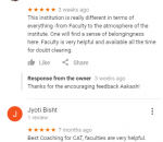 Mindworkzz CAT Coaching Delhi Reviews