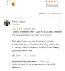 SHIKSHA IELTS Ahmedabad Coaching Reviews