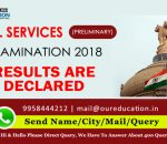 CIVIL SERVICES (PRELIMINARY) EXAMINATION 2018 results are declared