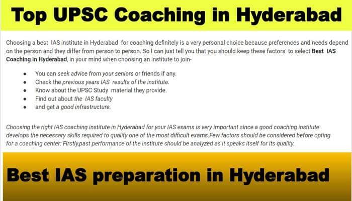 Top UPSC Classes in Hyderabad
