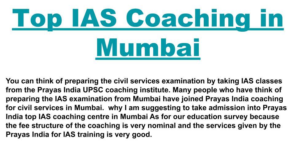 Best UPSC Coaching in Mumbai